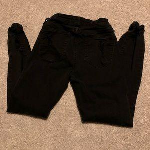 Cello Jeans - Black distressed jeans